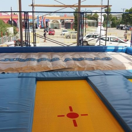 Modular trampolines with airbag supply -Vendita trampolini elastici con airbag