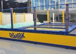 Modular trampolines with foam pit supply - Trampolino elastico con vasca gommapiuma - Trampolinanlage