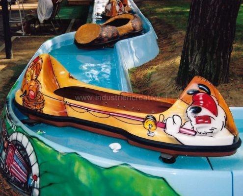 Giostra acquatica per luna park e parchi gioco - tema cartoons - produzione e vendita