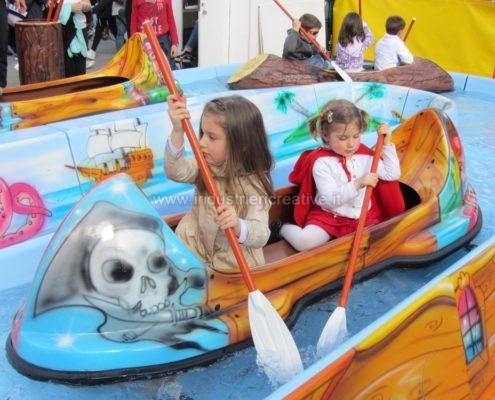 Water attraction supply - Flume ride Pirates River - produzione e vendita