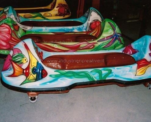 Giostra acquatica per luna park e parchi gioco - vetture tema mare - produzione e vendita