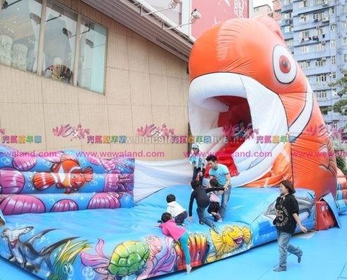 Vendita di giochi gonfiabili animati - gioco gonfiabile animato Nemo - gioco gonfiabile mangia-bambini