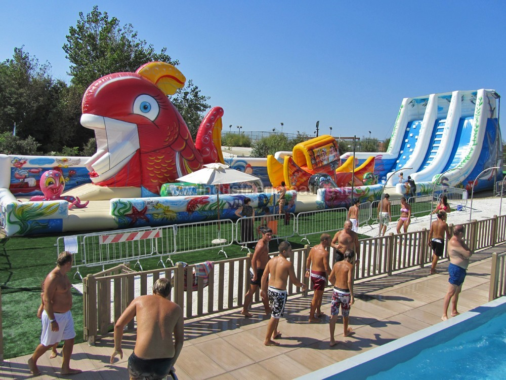 Big inflatable playgrounds sales