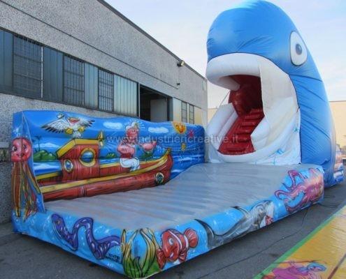 Balena gonfiabile animata - produzione e vendita di giochi gonfiabili personalizzati