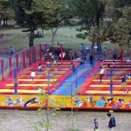16 trampolini elastici professionali - parco pubblico Parma