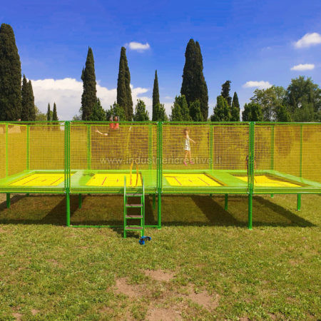 4 places high performance trampoline