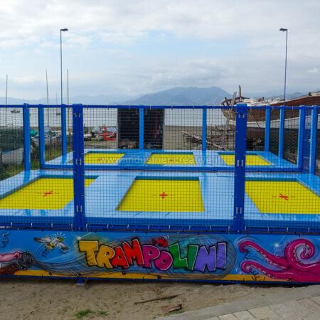 6 trampolini elastici professionali - spiaggia Sestri Levante