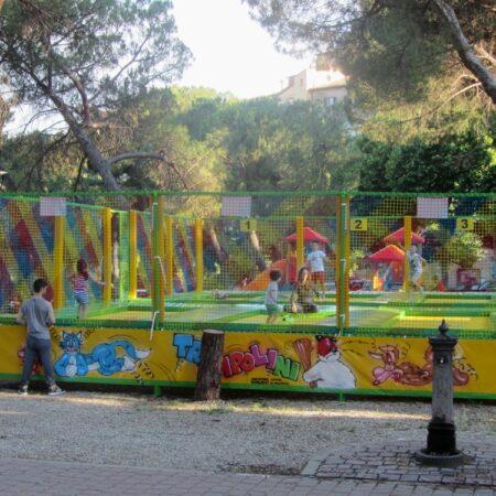 6-places trampoline in Castiglion Fiorentino (Tuscany)