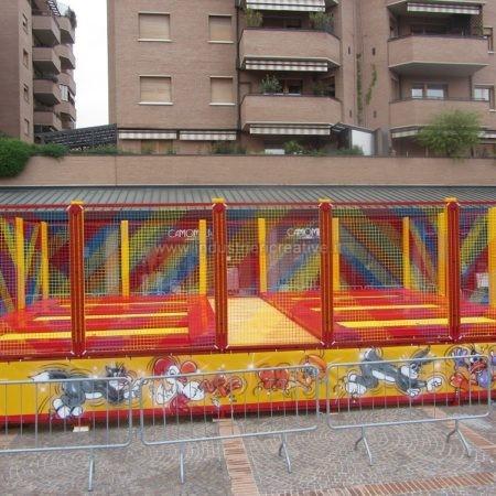 6 mini trampolines - shopping center, Bologna, Italy