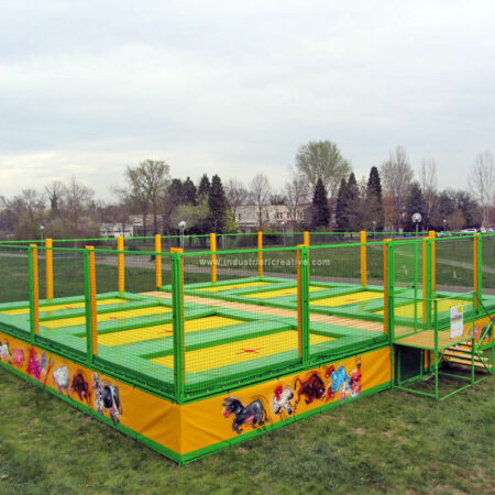 Trampoline with 8 places in a public park, Modena (Italy)