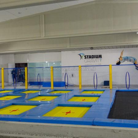 Indoor trampoline arena