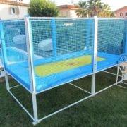 Trampoline professionnel pour piscine bleu