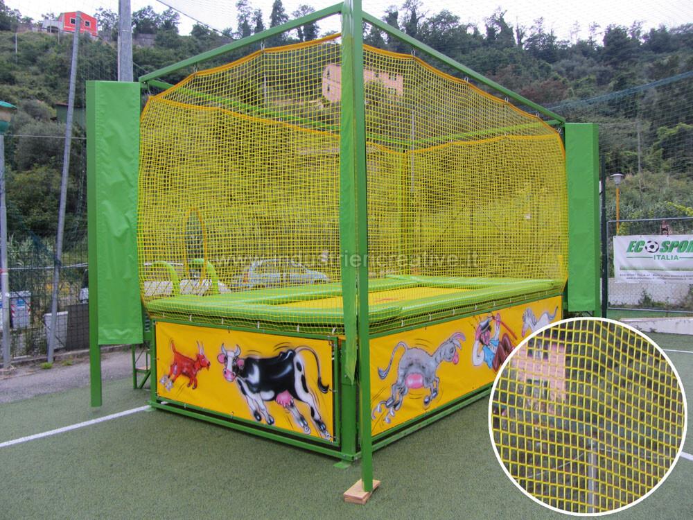 Rete di protezione per trampolino elastico