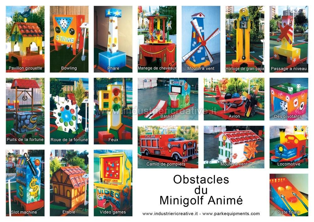 Obstacles de minigolf animé - fabrication et vente