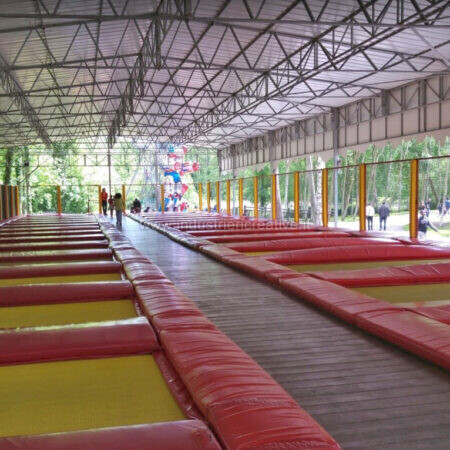 32 tappeti elastici modulari ! - parco giochi Saint Paul a Parigi