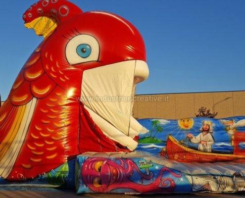 inflatable games manufacturers - fabricants de jeux gonflables - Poisson Rouge gonflable - Vendita di gonfiabili animati - gioco gonfiabile pesce - pesce gonfiabile