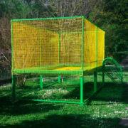 Garden trampoline for private use