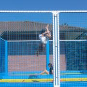 High performance trampoline for garden