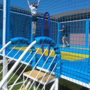 High performance trampoline for sport