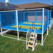 2 trampolines pour jardin