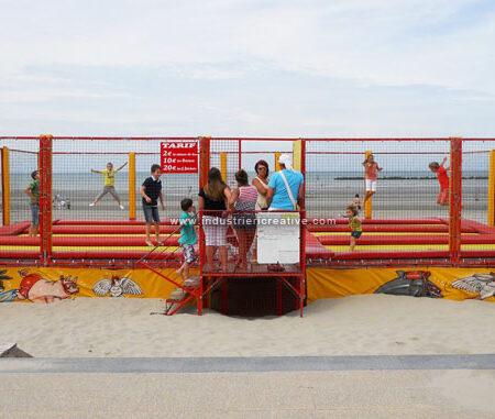 Impianto tappeti elstici - spiaggia Dunkerque, Francia