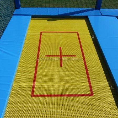 Sport performance trampoline mat