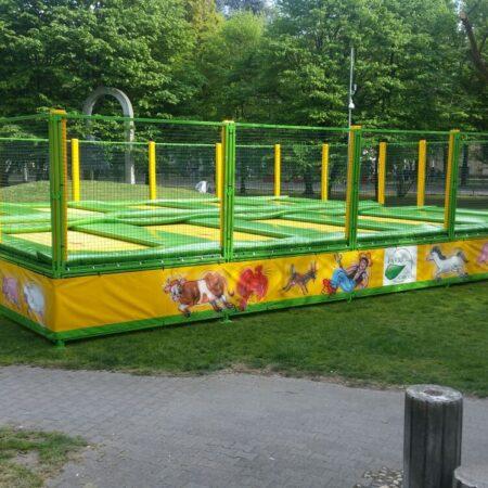 8-places trampoline in a public park