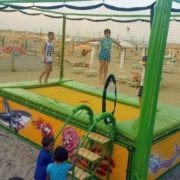 Professional trampoline for beach - manufacturing and supply