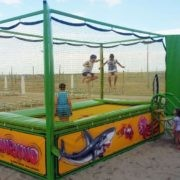 Professional trampoline for beach - manufacturing and installation