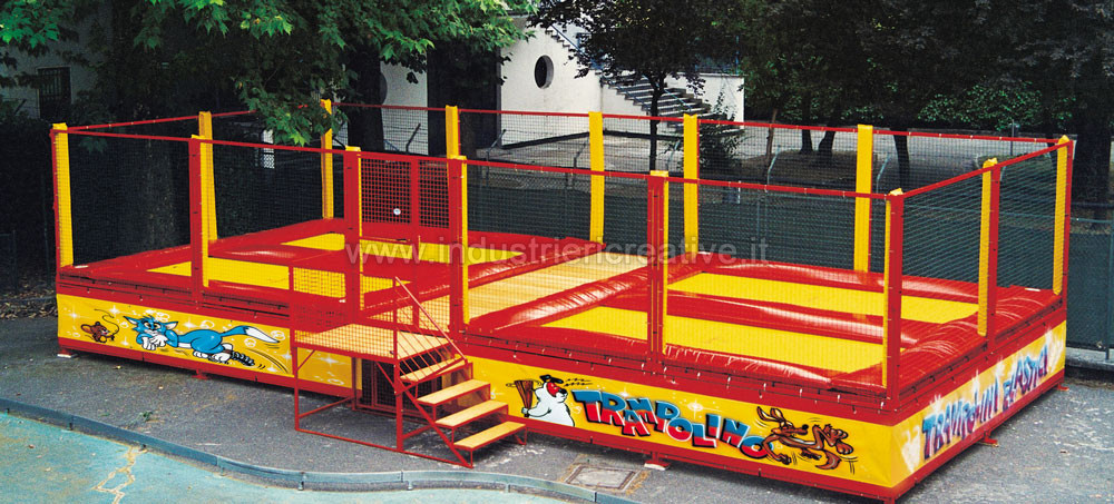 Professional Trampoline - example of standard disposition