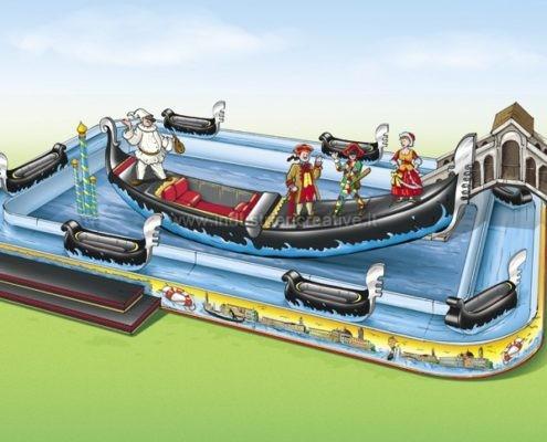Water attraction supply - Produzione e vendita attrazione acquatica Venice River